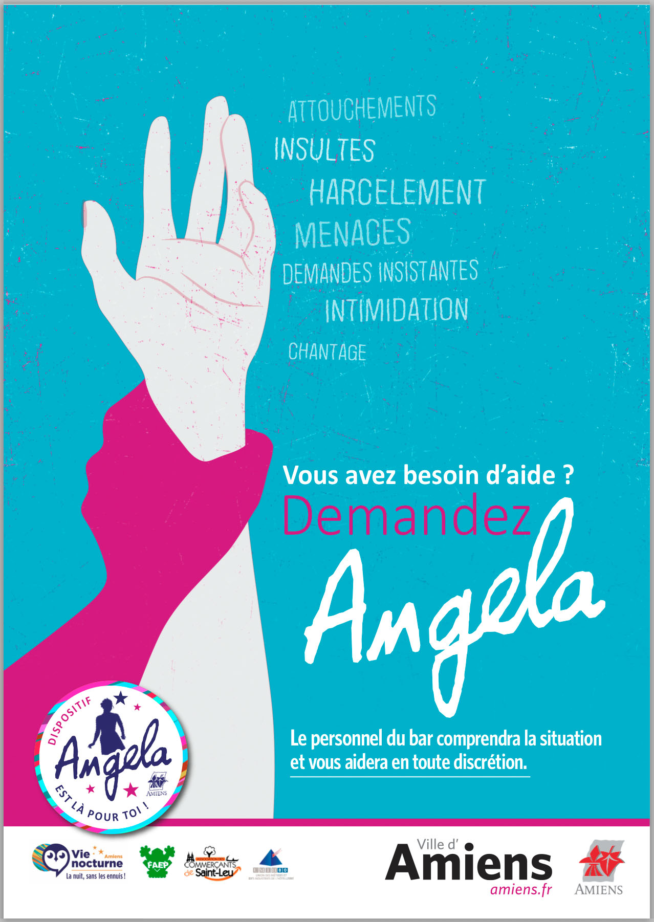 "Jeudi 5 mars : action de prévention dans le quartier Saint-leu / dispositif ""Angela"" 2"